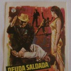 Cine: PROGRAMA DE CINE DEUDA SALDADA EDDIE CONSTANTINE. Lote 180251460