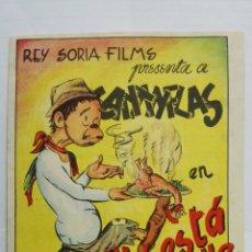 Flyers Publicitaires de films Anciens: PROGRAMA DE CINE, AHI ESTA EL DETALLE CON CANTINFLAS, CINE CAPITOL, CASTELLON, AÑO 1946. Lote 180267890