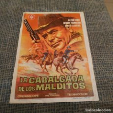 Cine: LA CABALGADA DE LOS MALDITOS (AÑO 1968) - GLENN FORD - PROGRAMA DE MANO FOLLETO CON PUBLICIDAD ATRÁS. Lote 180284766