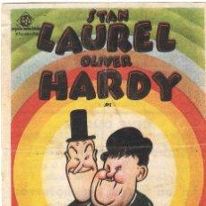 Cine: PROGRAMA DE CINE - MI AMIGO Y YO - STAN LAUREL, OLIVER HARDY - CINE CAPITOL, DUQUE Y PLUS ULTRA 1933. Lote 180317773