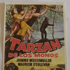 Cine: PROGRAMA DE CINE TARZAN DE LOS MONOS JOHNNY WEISSMULLER MAUREEN OSULLIVAN. Lote 180324888