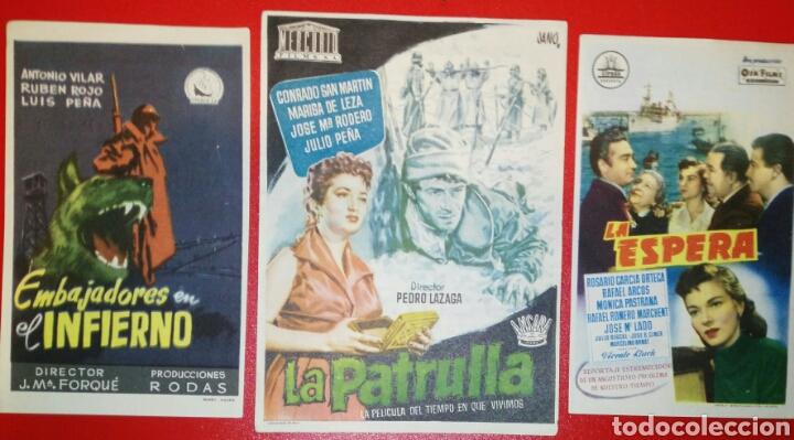 DIVISION AZUL. 3 PELICULAS MITICAS. 1954-1956. ENVIO INCLUIDO EN EL PRECIO. (Cine - Folletos de Mano - Drama)