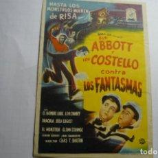 Cine: PROGRAMA ABBOTT Y COSTELLO CONTRA LOS FANTASMAS. Lote 180460517