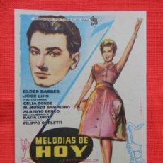 Cine: MELODIAS DE HOY, IMPECABLE SENCILLO, ELDER BARBER, C/PUBLI C. RIACHO 1961. Lote 180491346