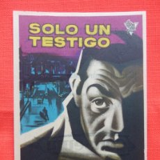 Cine: SOLO UN TESTIGO, IMPECABLE SENCILLO, LINO VENTURA, C/PUBLI COLISEUM 1961. Lote 180492521