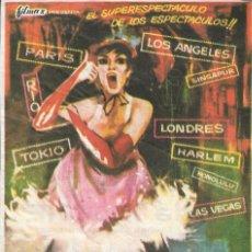 Flyers Publicitaires de films Anciens: PROGRAMA DE CINE - MUNDO DE NOCHE - CINE ALAMEDA (MÁLAGA) - 1963.. Lote 180496095