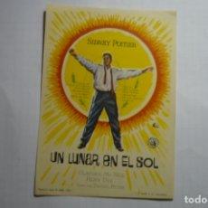 Cine: PROGRAMA UN LUNAR EN EL SOL -SIDNEY POITIER. Lote 180505960