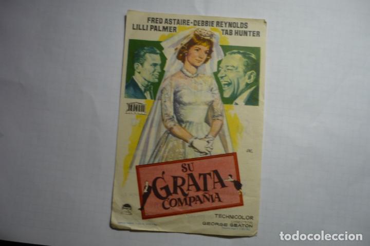 PROGRAMA SU GRATA COMPAÑIA - FRED ASTAIRE PUBLICIDAD (Cine - Folletos de Mano - Comedia)