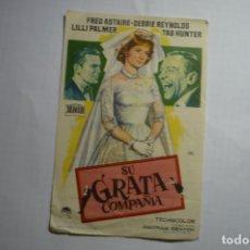 Cine: PROGRAMA SU GRATA COMPAÑIA - FRED ASTAIRE PUBLICIDAD. Lote 180506063