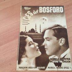 Cine: LUCES DE BOSFORO PROGRAMA DOBLE ENERO 1934 CINE CLAVE PALACE BARCELONA EN CATALAN (COIB36). Lote 180510512