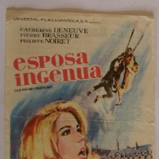 Cine: PROGRAMA DE CINE ESPOSA INGENUA . Lote 180850050