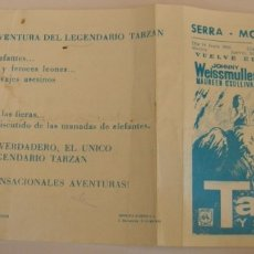 Cine: PROGRAMA DE CINE TARZAN Y SU COMPAÑERA JOHNNY WEISSMULLER MAUREEN OSULLIVAN. Lote 181027117