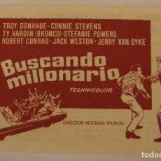 Flyers Publicitaires de films Anciens: PROGRAMA DE CINE BUSCANDO MILLONARIO. Lote 181027236