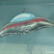 Cine: LA GUERRA DE LOS MUNDOS. FOLLETO DE CINE TROQUELADO.. Lote 181087056