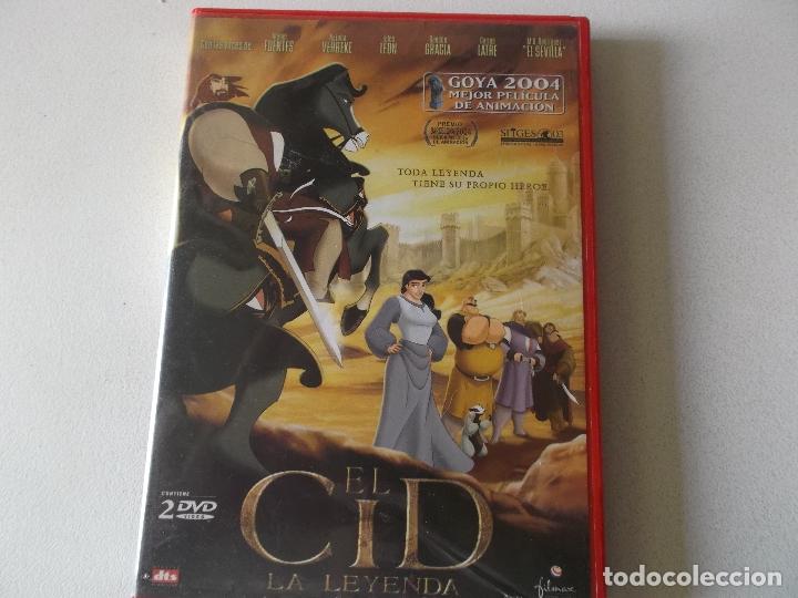 EL CID,LA LEYENDA, 2 DVD COMPLETO CON EL PANFLETO (Cine - Folletos de Mano - Infantil)