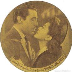 Cine: PROGRAMA DE CINE TROQUELADO CARTÓN - 30 ANIVERSARIO 20TH CENTURY FOX - VIUDAS DEL JAZZ - 1945.. Lote 181463547