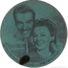 Cine: PROGRAMA DE CINE TROQUELADO CARTÓN - 30 ANIVERSARIO 20TH CENTURY FOX - ¡ POR FIN SE DECIDIÓ ! 1945.. Lote 181464540
