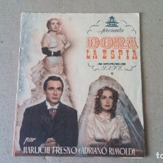 Cine: PROGRAMA DE CINE: DORA LA ESPIA. MARUCHI FRESNO, ADRIANO RIMOLDI - DOBLE ORIGINAL SIN PUBLICIDAD. Lote 181477048
