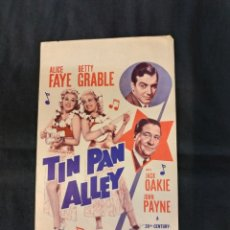 Cine: TIN PAN ALLEY - ALICE FAYE - BETTY GRABLE - MADE IN USA 1940 - . Lote 181564200