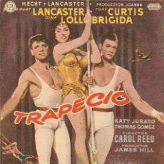 Cine: TRAPECIO (1956). Lote 181893125