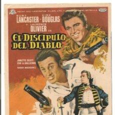 Cine: EL DISCÍPULO DEL DIABLO (1959). Lote 181898666