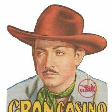 Cine: PROGRAMA DE CINE TROQUELADO - GRAN CASINO - JORGE NEGRETE, LIBERTAD LAMARQUE - PRINCIPAL CINEMA 1947. Lote 181899378