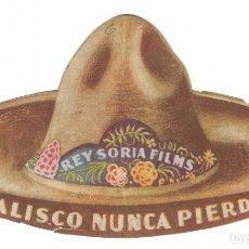 Cine: PROGRAMA DE CINE TROQUELADO - JALISCO NUNCA PIERDE - PEDRO ARMENDÁRIZ, JORGE VÉLEZ - IDEAL - 1937.. Lote 181900806