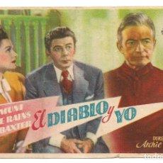 Cine: EL DIABLO Y YO (1946). Lote 181910031