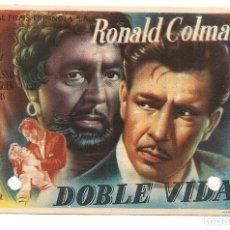 Cine: DOBLE VIDA (1947). Lote 181912047