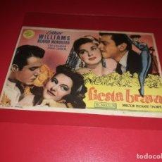 Cine: FIESTA BRAVA CON ESTHER WILLIAMS. PUBLICIDAD DEL CINE AL DORSO. AÑO 1947. Lote 182076090