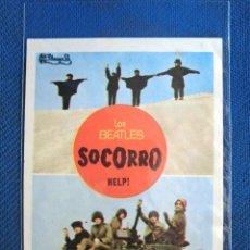Cine: LOS BEATLES FOLLETO DE MANO CINE PELICULA SOCORRO NUEVO BARCELONA MARAVILLA PUBLICIDAD BCN. Lote 182078593
