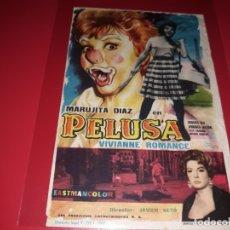 Cine: PELUSA CON MARUJITA DIAZ. PUBLICIDAD DEL CINE AL DORSO. AÑO 1960. Lote 182096382