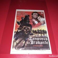 Folhetos de mão de filmes antigos de cinema: GENOVEVA DE BRABANTE . PUBLICIDAD DEL CINE AL DORSO.AÑO 1964. Lote 182147553