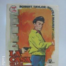 Cine: LA CASA DE LOS SIETE HALCONES - FOLLETO MANO ORIGINAL - ROBERT TAYLOR NICOLE MAUREY RICHARD THORPE . Lote 182161267