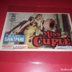 Cine: MISS CUPLÉ CON MARY SANTPERE. PUBLICIDAD DEL CINE AL DORSO. AÑO 1959. Lote 182248161