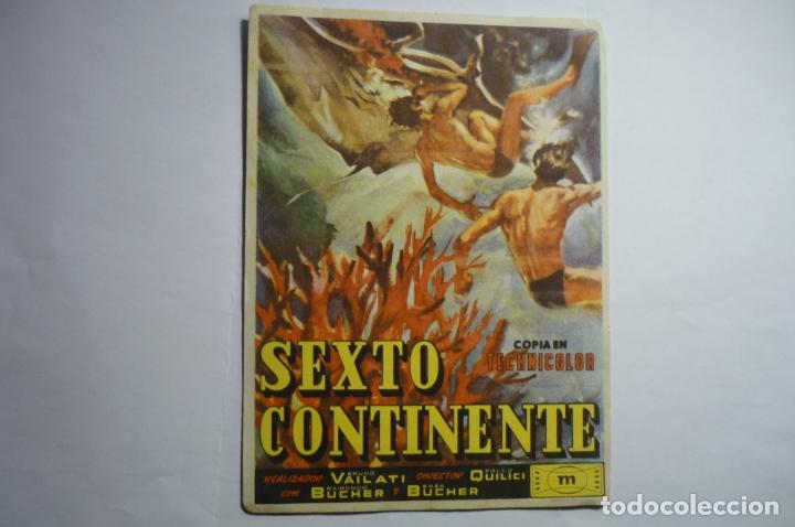 PROGRAMA SEXTO CONTINENTE -PUBLICIDAD (Cine - Folletos de Mano - Documentales)