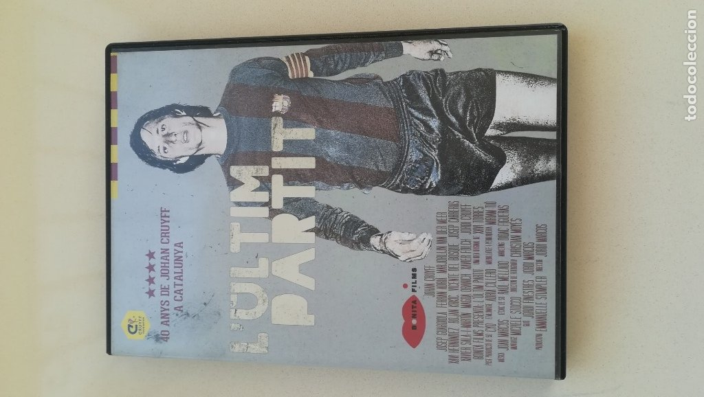 L'ULTIM PARTIT 40 ANYS DE JOHAN CRUYFF A CATALUNYA,. DVD DOCUMENTAL (Cine - Folletos de Mano - Deportes)