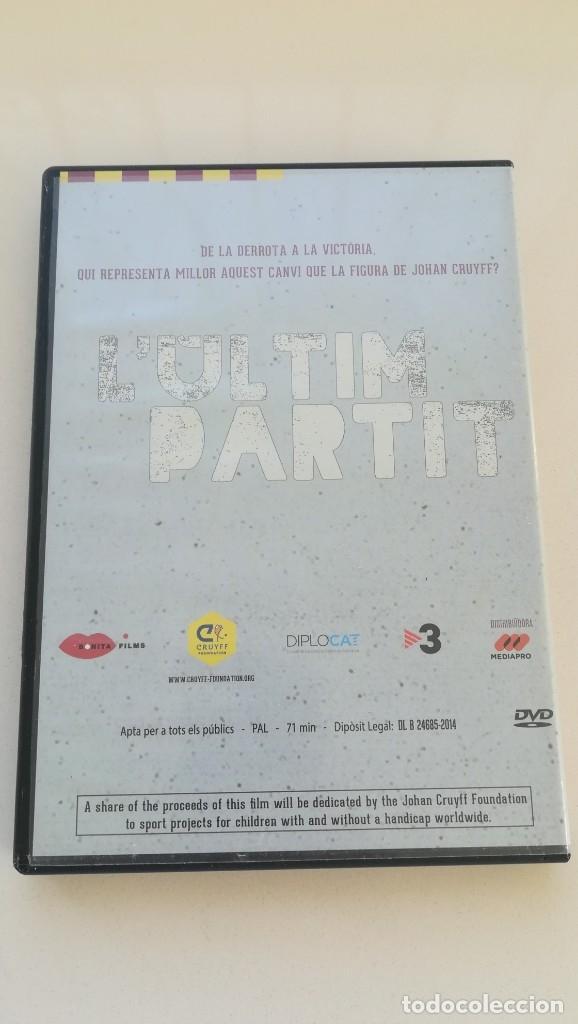 Cine: LULTIM PARTIT 40 ANYS DE JOHAN CRUYFF A CATALUNYA,. DVD DOCUMENTAL - Foto 2 - 182279952