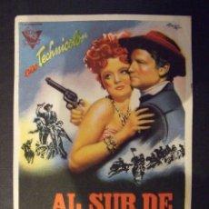 Cine: AL SUR DE SAN LUIS - SIMPLE CON PUBLICIDAD CINE TIVOLI MALGRAT DE MAL - PERFECTO . Lote 182298545