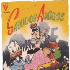 Cine: FOLLETO PELÍCULA SALUDOS AMIGOS - WALT DISNEY. Lote 182304625