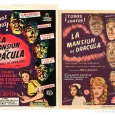 Cine: LA MANSIÓN DE DRÁCULA, CON LON CHANEY.. Lote 182352965