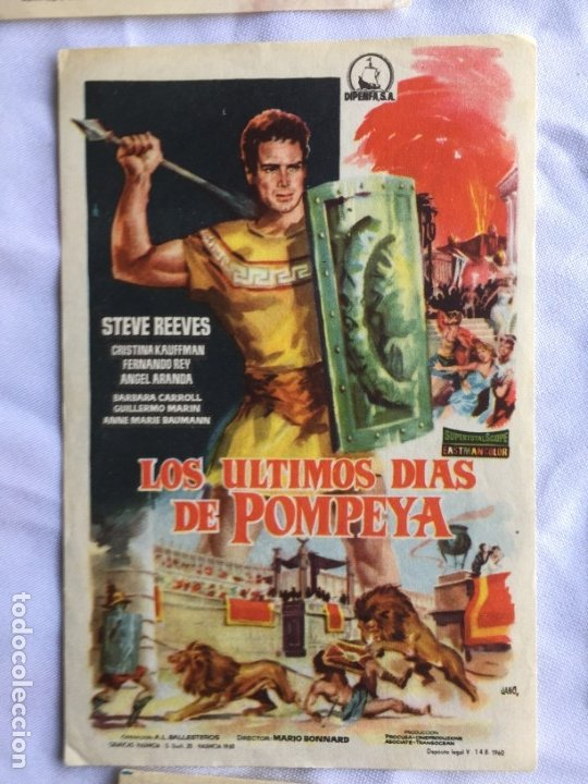 LOS ÚLTIMOS DIAS DE POMPEYA (Cine - Folletos de Mano - Aventura)