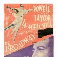 Cine: LA MELODÍA DE BROADWAY, CON ROBERT TAYLOR.. Lote 182425562