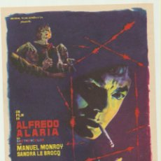 Flyers Publicitaires de films Anciens: DIFERENTE. ALFREDO ALARIA. SENCILLO DE UNIVERSAL. ¡IMPECABLE!. Lote 182468371