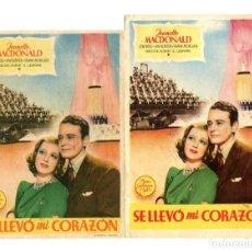 Cine: SE LLEVÓ MI CORAZÓN, CON JEANETTE MACDONALD.. Lote 182545508