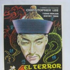 Cine: EL TERROR DE LOS TONGS - FOLLETO MANO ORIGINAL - CHRISTOPHER LEE YVONNE MONLAUR IMPRESO. Lote 182679932