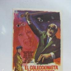 Cine: EL COLECCIONISTA DE CADAVERES - FOLLETO MANO ORIGINAL - JEAN PIERRA AUMONT BORIS KARLOFF JANO. Lote 182681338