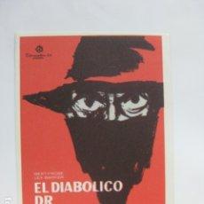 Cine: EL DIABOLICO DR MABUSE - FOLLETO MANO ORIGINAL - GERT FROBE LEX BARKER HARALD REINL. Lote 182682430