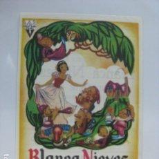 Cine: BLANCA NIEVES Y LOS SIETE ENANITOS FOLLETO MANO ORIGINAL WALT DISNEY RKO IMPRESO BLANCANIEVES IMPR. Lote 182683718