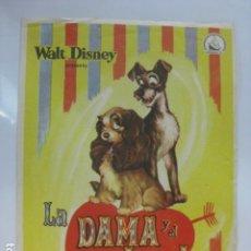 Cine: LA DAMA Y EL VAGABUNDO - FOLLETO MANO ORIGINAL - WALT DISNEY DIPENFA. Lote 182684635